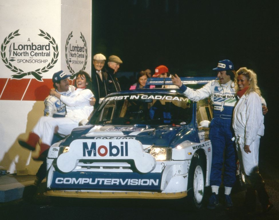 29 Metro 6R4 Tony Pond celebrates 1986 RAC rally